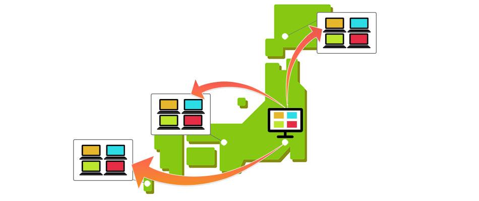 導入事例 1拠点×多台数利用 流通業利用事例