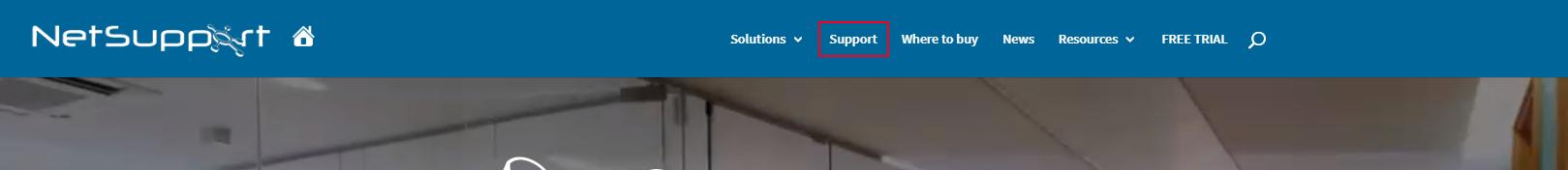 1.サポートページへアクセス(NetSupport社ホームページ)